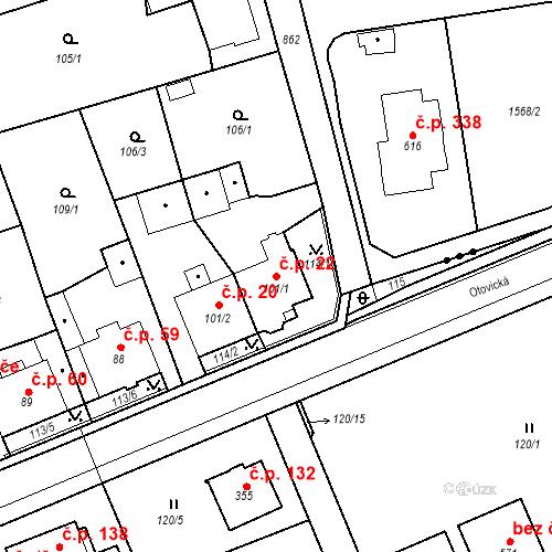 Katastrální mapa Stavební objekt Sedlec 22, Karlovy Vary