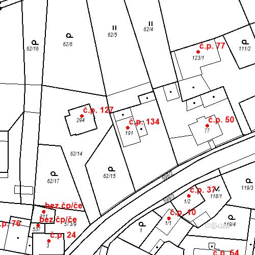 Katastrální mapa Stavební objekt Sedlec 134, Karlovy Vary