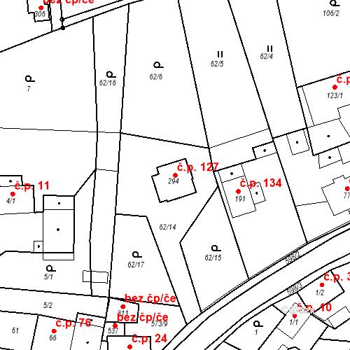 Katastrální mapa Stavební objekt Sedlec 127, Karlovy Vary