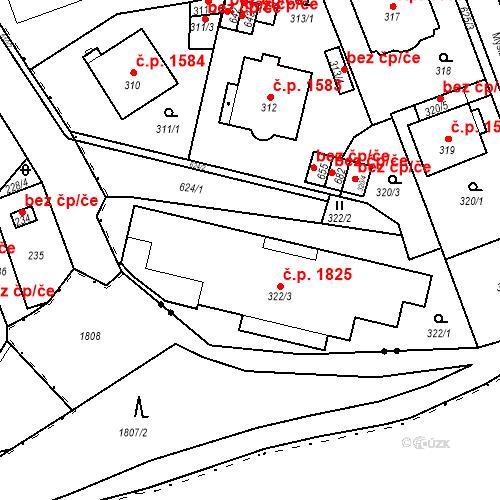 Katastrální mapa Stavební objekt Karlovy Vary 1809, Karlovy Vary