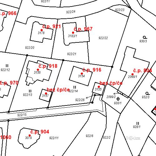 Katastrální mapa Stavební objekt Stará Role 916, Karlovy Vary