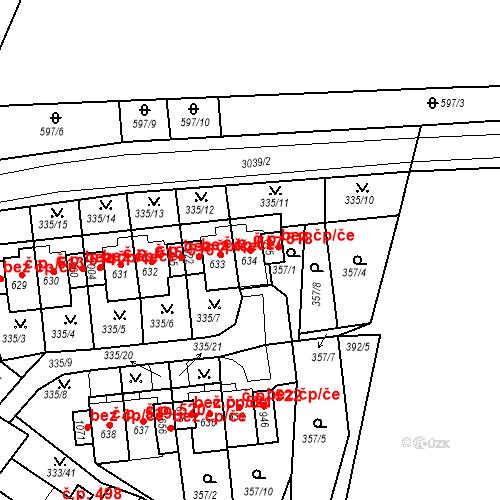 Katastrální mapa Stavební objekt Teplá 518, Teplá
