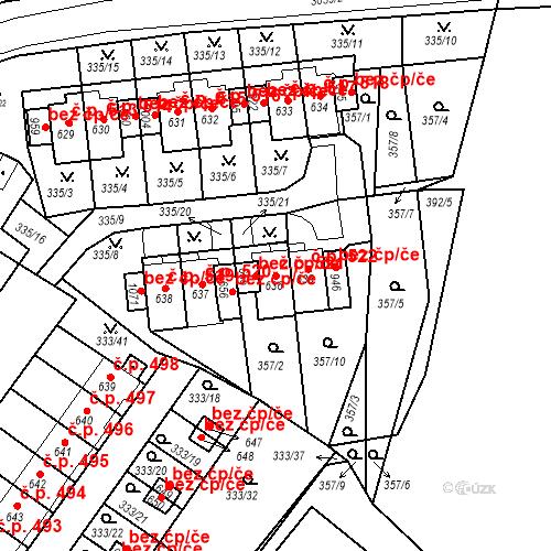 Katastrální mapa Stavební objekt Teplá 521, Teplá