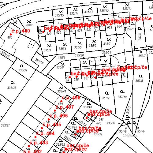 Katastrální mapa Stavební objekt Teplá 519, Teplá