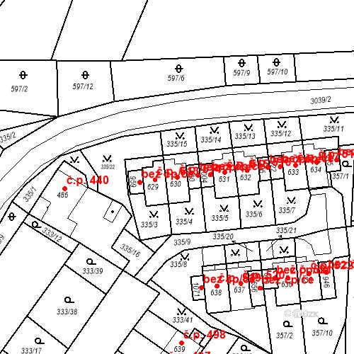 Katastrální mapa Stavební objekt Teplá 514, Teplá