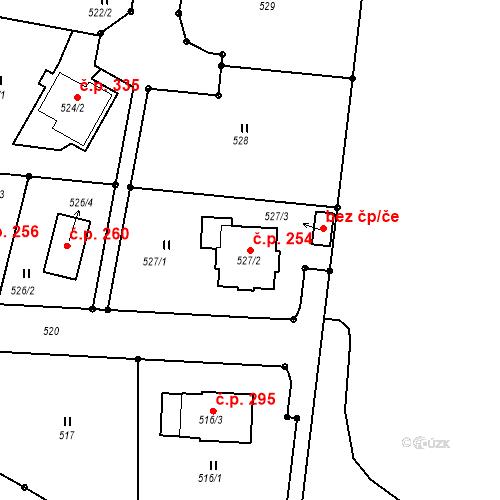 Katastrální mapa Stavební objekt Jenišov 254, Jenišov