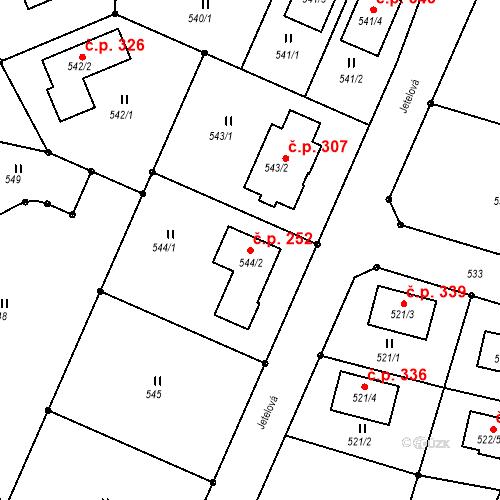Katastrální mapa Stavební objekt Jenišov 252, Jenišov