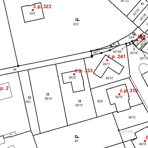 Katastrální mapa Stavební objekt Jenišov 333, Jenišov
