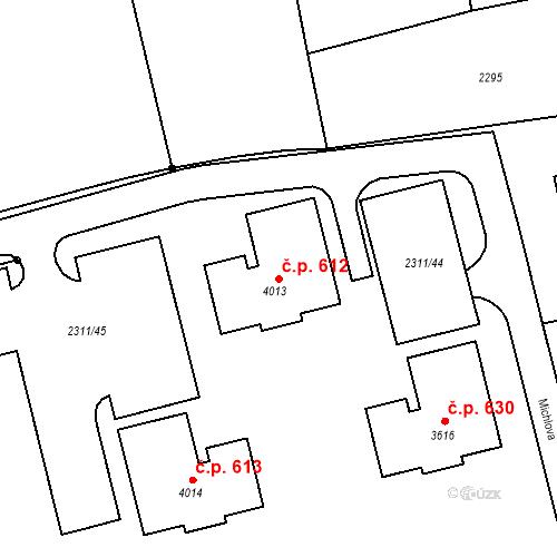 Katastrální mapa Stavební objekt Týnské Předměstí 612, Domažlice