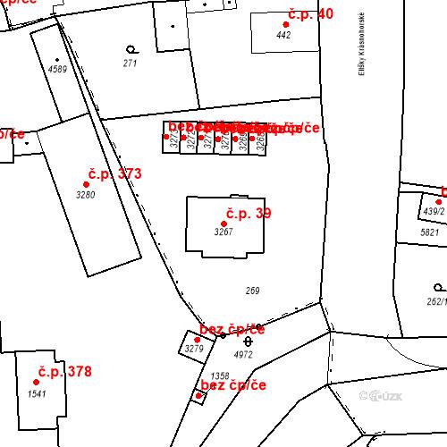 Katastrální mapa Stavební objekt Hořejší Předměstí 39, Domažlice