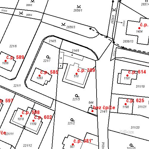 Katastrální mapa Stavební objekt Bor 389, Bor