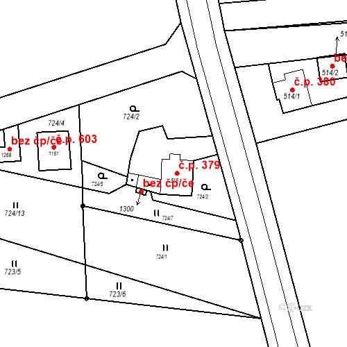 Katastrální mapa Stavební objekt Bor 379, Bor