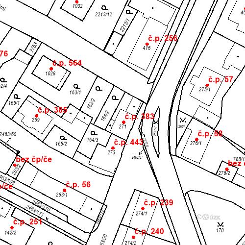Katastrální mapa Stavební objekt Bor 383, Bor