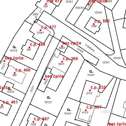 Katastrální mapa Stavební objekt Bor 369, Bor