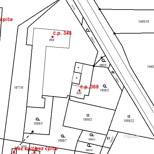 Katastrální mapa Stavební objekt Bor 368, Bor