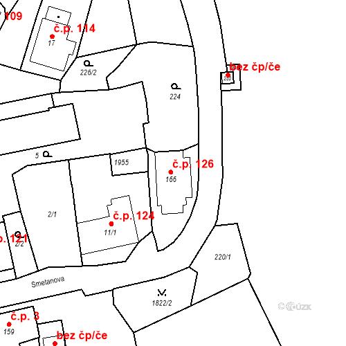 Katastrální mapa Stavební objekt Oloví 126, Oloví