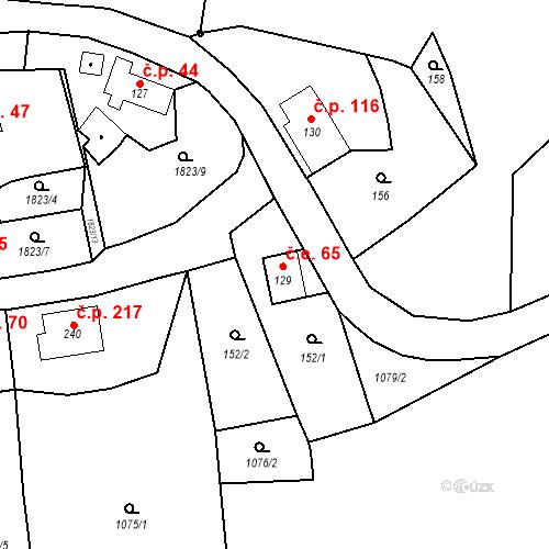 Katastrální mapa Stavební objekt Oloví 65, Oloví
