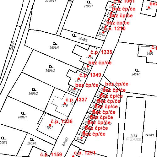Katastrální mapa Stavební objekt Kraslice 1349, Kraslice