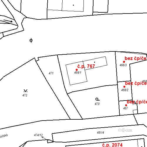 Katastrální mapa Stavební objekt Tachov 767, Tachov