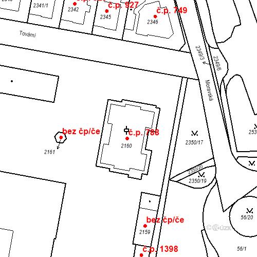 Katastrální mapa Stavební objekt Tachov 788, Tachov