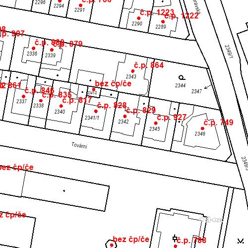 Katastrální mapa Stavební objekt Tachov 829, Tachov