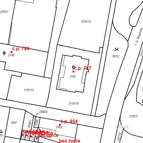 Katastrální mapa Stavební objekt Tachov 787, Tachov