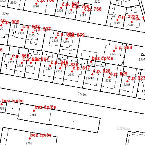 Katastrální mapa Stavební objekt Tachov 817, Tachov