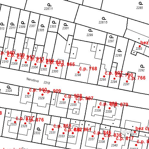 Katastrální mapa Stavební objekt Tachov 768, Tachov