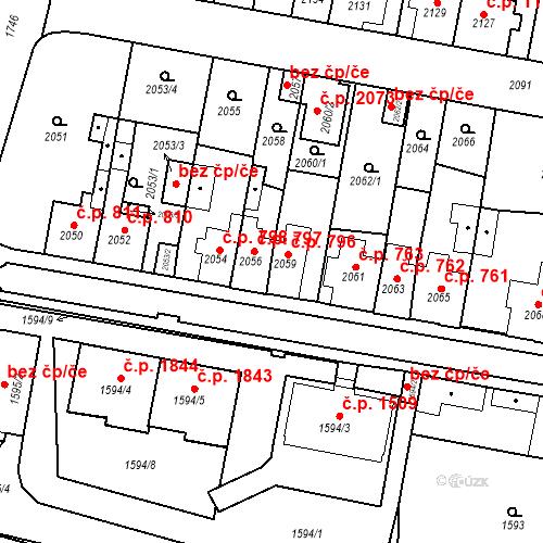 Katastrální mapa Stavební objekt Tachov 796, Tachov