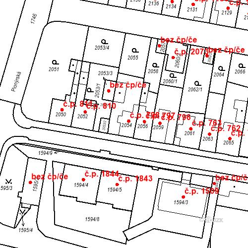 Katastrální mapa Stavební objekt Tachov 798, Tachov