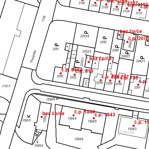 Katastrální mapa Stavební objekt Tachov 810, Tachov
