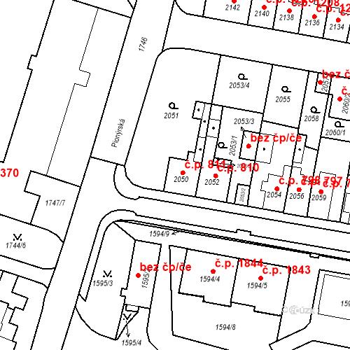 Katastrální mapa Stavební objekt Tachov 811, Tachov