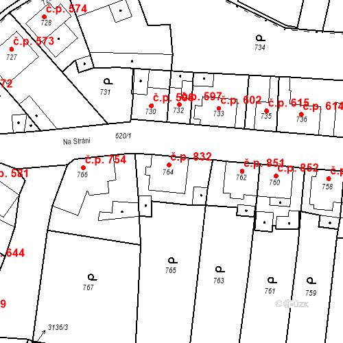 Katastrální mapa Stavební objekt Tachov 832, Tachov