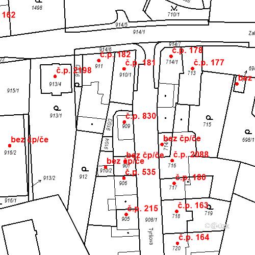 Katastrální mapa Stavební objekt Tachov 830, Tachov