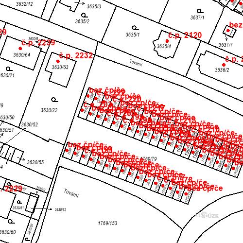 Katastrální mapa Stavební objekt Tachov 198, Tachov