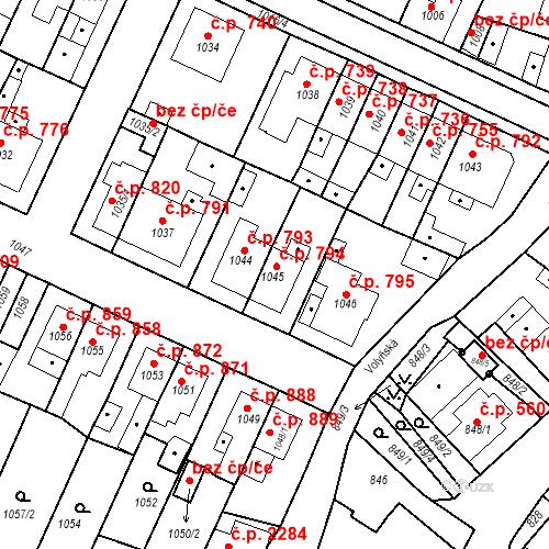 Katastrální mapa Stavební objekt Tachov 794, Tachov