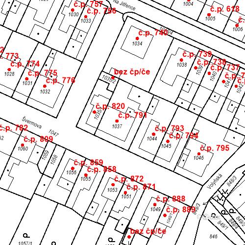 Katastrální mapa Stavební objekt Tachov 791, Tachov