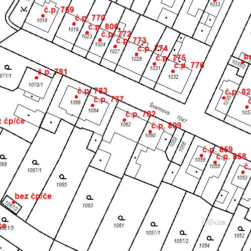Katastrální mapa Stavební objekt Tachov 782, Tachov