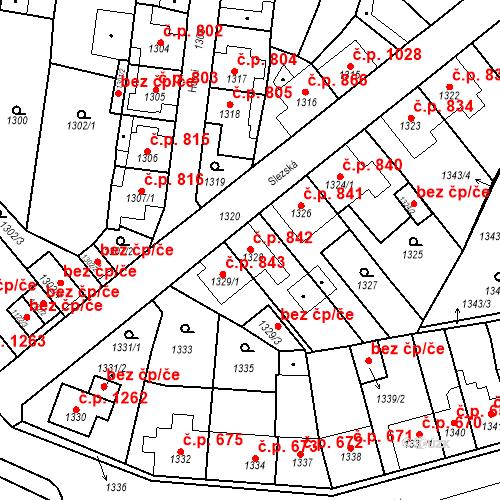Katastrální mapa Stavební objekt Tachov 842, Tachov