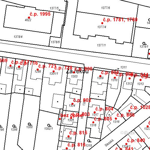 Katastrální mapa Stavební objekt Tachov 800, Tachov