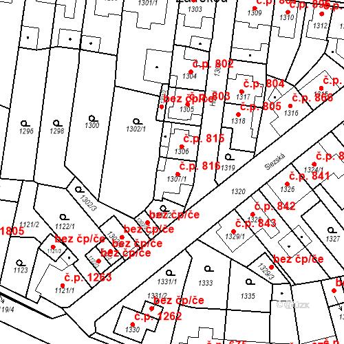 Katastrální mapa Stavební objekt Tachov 816, Tachov