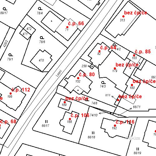 Katastrální mapa Stavební objekt Slatina 80, Františkovy Lázně