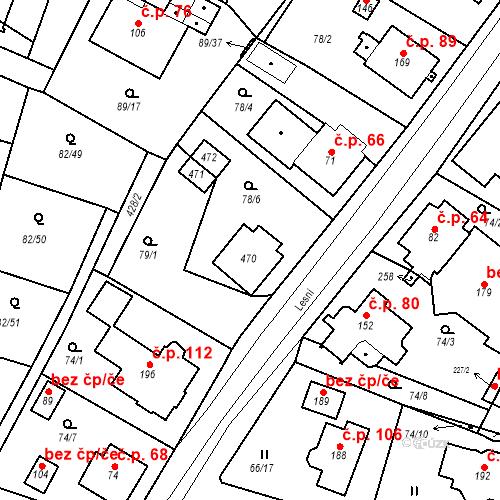 Katastrální mapa Stavební objekt Slatina 67, Františkovy Lázně