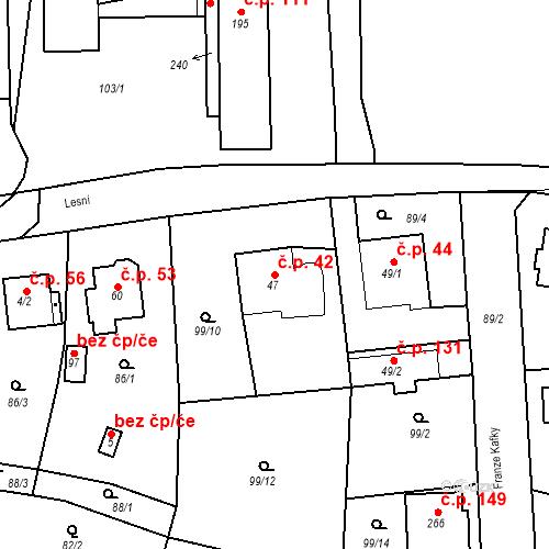 Katastrální mapa Stavební objekt Slatina 42, Františkovy Lázně