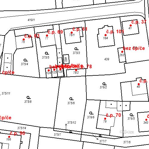 Katastrální mapa Stavební objekt Slatina 78, Františkovy Lázně