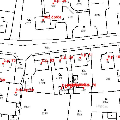 Katastrální mapa Stavební objekt Slatina 69, Františkovy Lázně