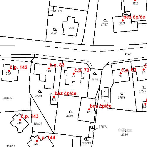 Katastrální mapa Stavební objekt Slatina 73, Františkovy Lázně
