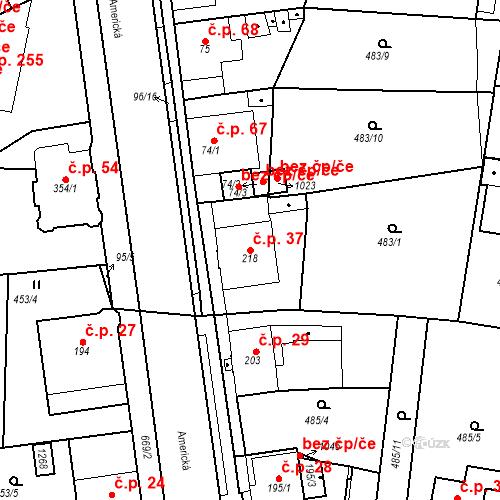 Katastrální mapa Stavební objekt Dolní Lomany 37, Františkovy Lázně
