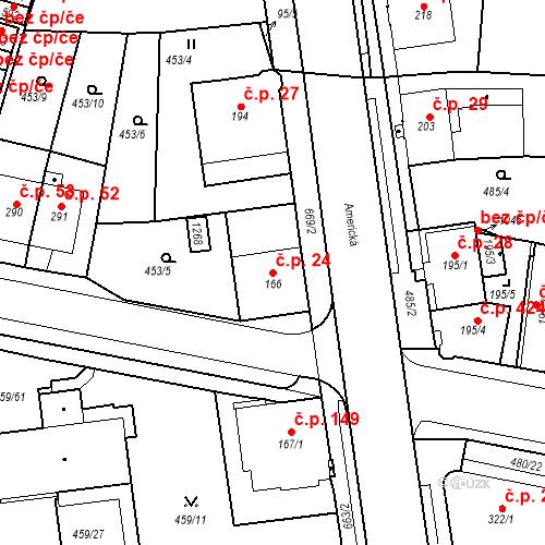 Katastrální mapa Stavební objekt Dolní Lomany 24, Františkovy Lázně