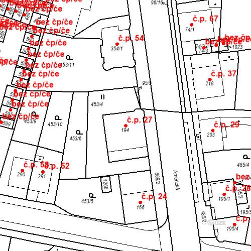 Katastrální mapa Stavební objekt Dolní Lomany 27, Františkovy Lázně